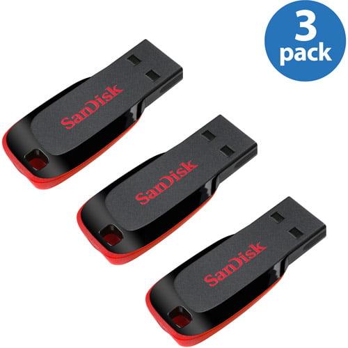 SanDisk CZ50 16GB USB Flash Drive 3-Pack Value Bundle