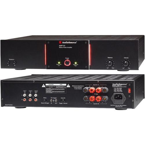 Audiosource Amp 110 2-channel, 75-watt Audio Distribution Power Amp With 12-volt Trigger