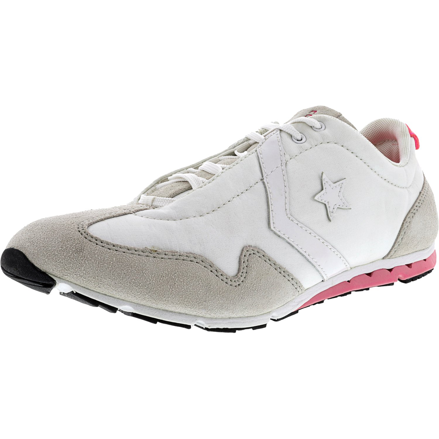 Converse Women's Revival Ox White / Pink Ankle-High Fabric Running Shoe - 10M