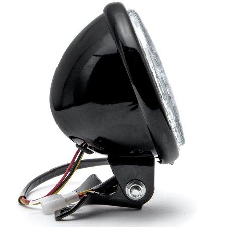 "Krator 5"" Black LED Headlight with Light Mounting Bracket for Harley Davidson Police FLHP - image 5 de 7"
