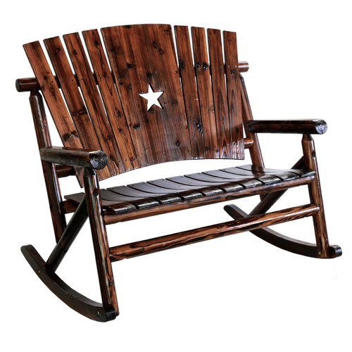 Leigh Country Char-Log Star Double Rocking Chair II