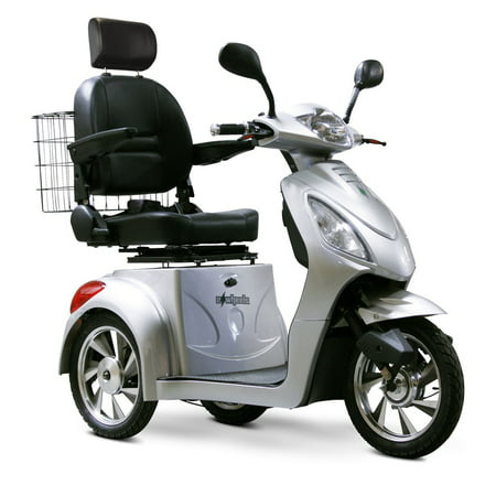E-Wheels EW-36 3-Wheel Electric Senior Mobility Scooter - Silver