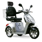 E-Wheels EW-36 3-Wheel Electric Mobility Scooter For Seniors, Silver
