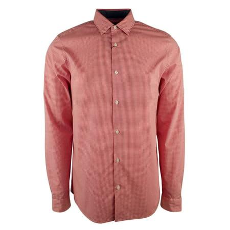 1503b4d8 Michael Kors - Michael Kors Men's Check Long Sleeve Stretch Slim Fit Shirt  - Walmart.com