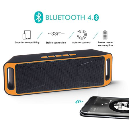 Indigi® Wireless Bluetooth Speaker Sound System Portable Soundbar MP3 Boombox Best (The Best Speaker Box)