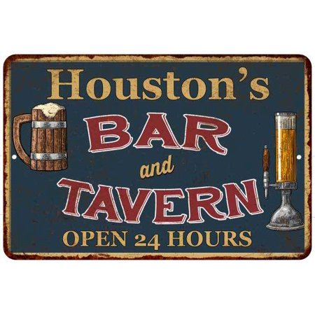 Houston's Green Bar & Tavern Personalized Rustic Sign 8 x 12 Matte Finish Metal 108120047856