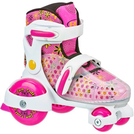 Roller Derby Girls Fun Roll Quad Skates - Pink/White S (7-11)