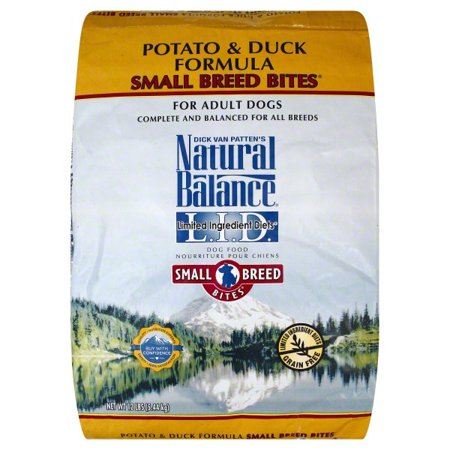 Natural Balance Small Breed Bites L.I.D. Limited Ingredient Diets Potato & Duck Formula Dry Dog Food, 12-Pound ()
