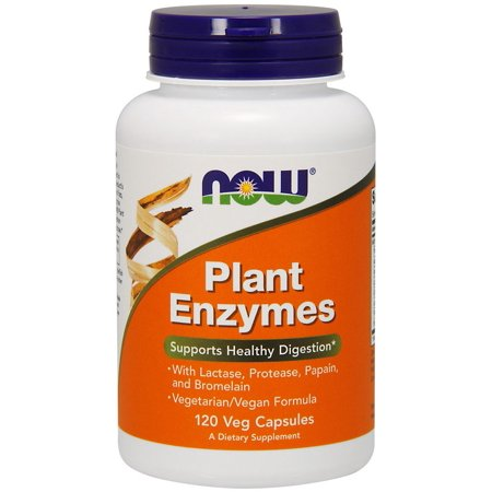 Foods Natural Enzymes - Plant Enzymes Now Foods 120 VCaps
