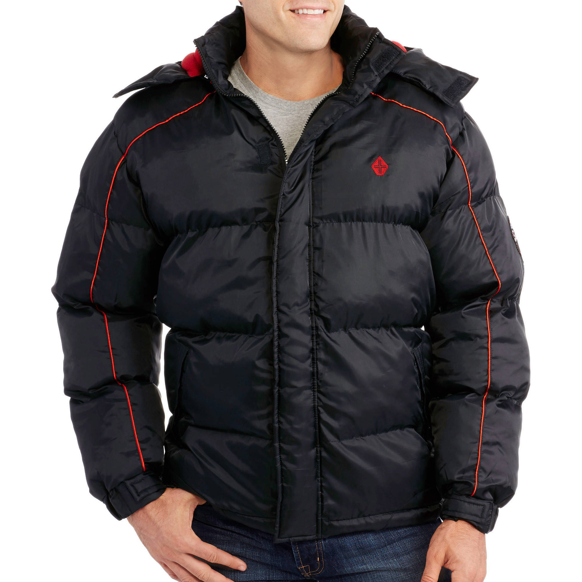 Men's Bubble Jacket Contrast Color