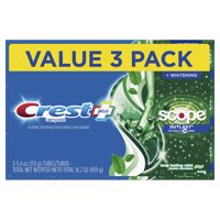 Crest + Scope Outlast Complete Whitening Toothpaste, Mint, 5.4 oz, Pack of 3