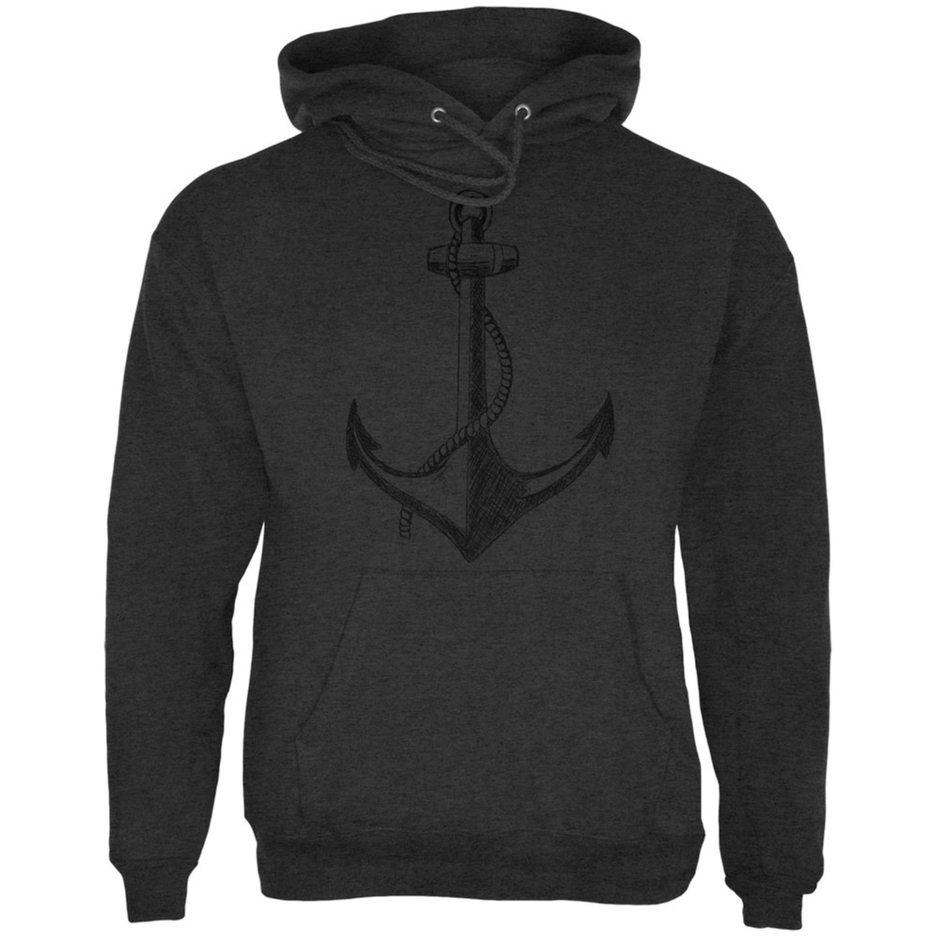 Summer Anchor Charcoal Heather Adult Hoodie