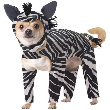 Animal Planets Zebra Dog Costume, X-Small