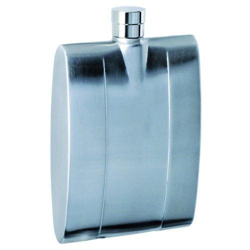Visol  Leeper Contemporary Stainless Steel Liquor Flask - 4 ounces