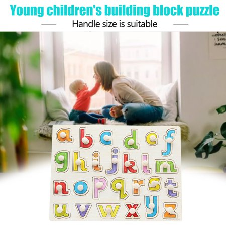 Baby Toys Montessori Wooden Puzzle Hand Grab Board Educational Wood Puzzles - image 3 de 8