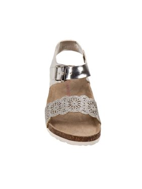 47f0d83aa Product Image Laura Ashley O-LA81223SSILV8 Glitter Cork Lining Sandals for  Toddler Girls
