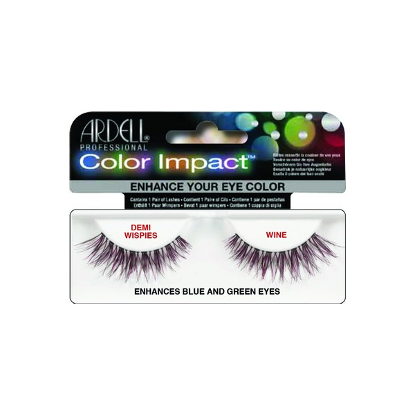 Ardell Lashes Color Impact Enhances 110 Wine Demi Wispies