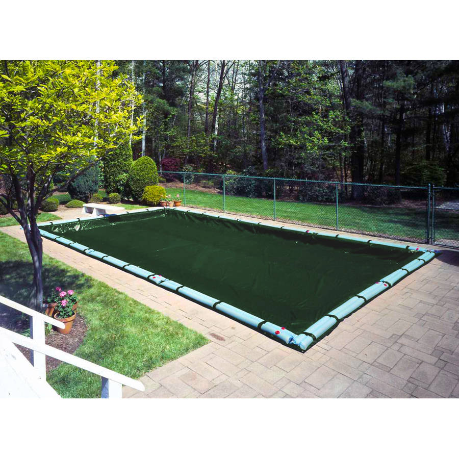 Extra Heavy-Duty 20-Year Green Winter Cover for In-Ground Swimming Pools