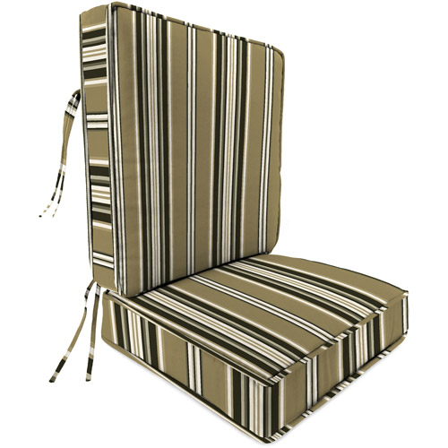 Jordan Manufacturing Outdoor Patio Box-Edge Cushion, Seat and Back Attached, Kasmira Driftwood
