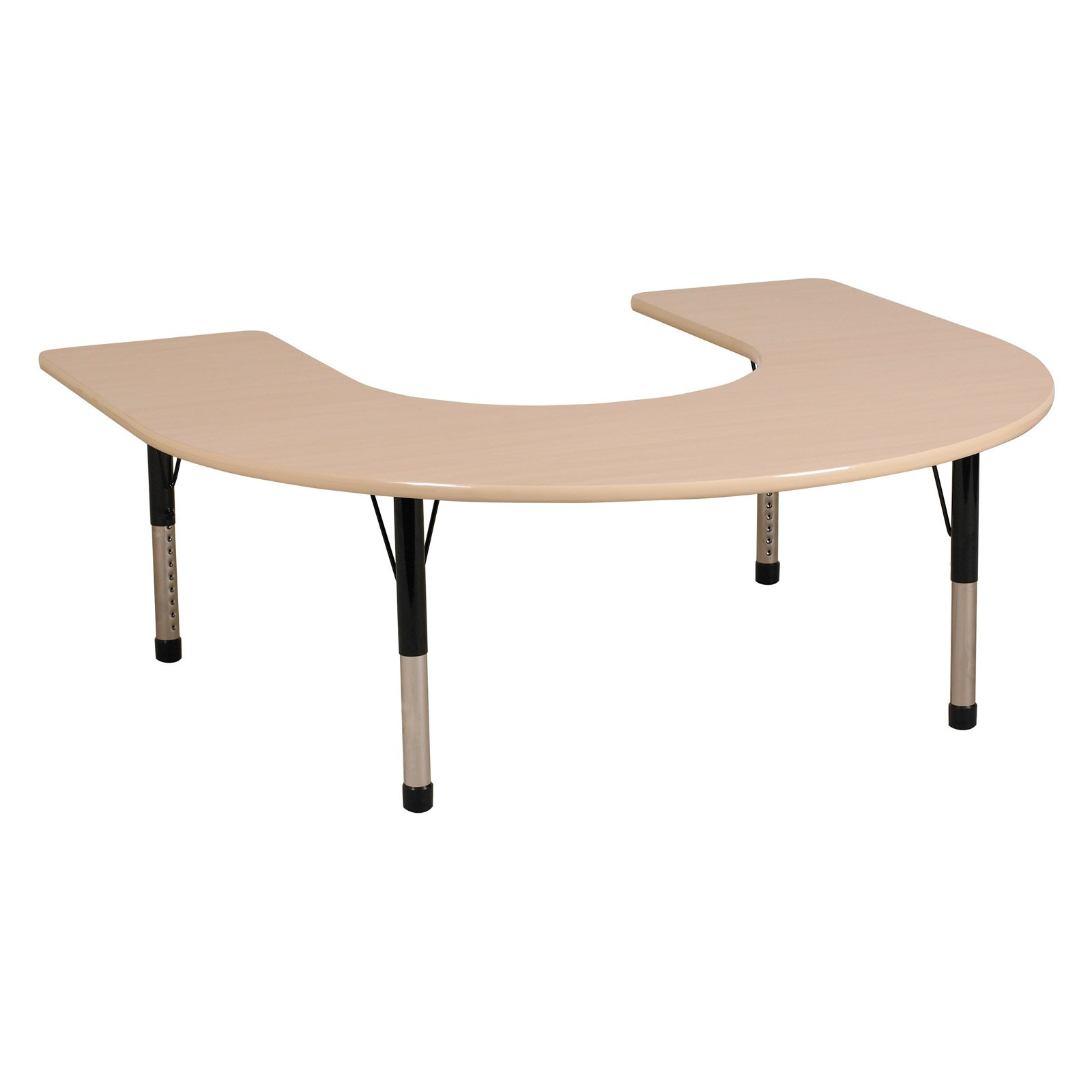 "Horseshoe Table 60""x66""-Glide:Chunky"