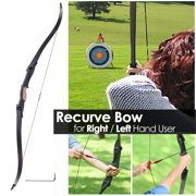 """Yescom 54"""" 28Lbs Recurve Bow Archery Traditional Takedown Right Left Hand Hunting Game Practice Target Shooting"""
