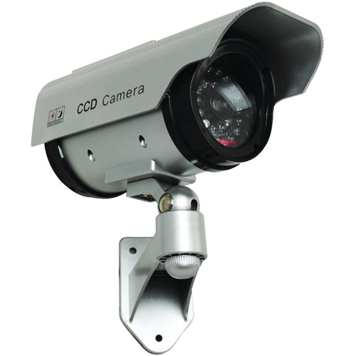 Securityman SM-3803 Solar-Powered Indoor/Outdoor Dummy Camera with LED