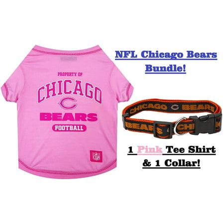 official photos 44645 8064e NFL Chicago Bears PET COLLAR & PET TEE SHIRT Bundle, Medium ...
