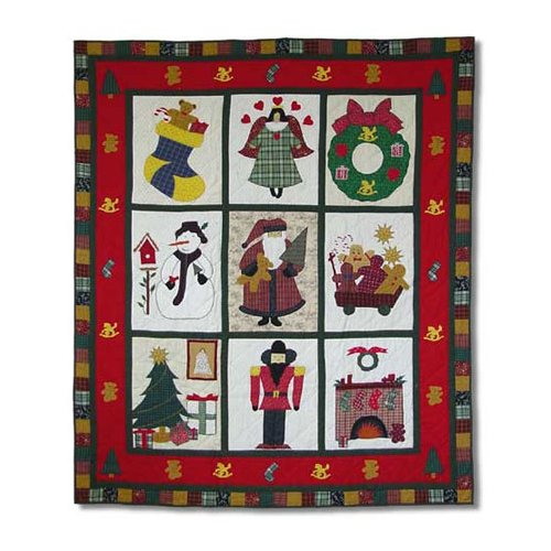 Patch Magic Holiday Cheer Throw Quilt by Patch Magic