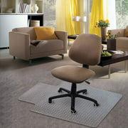 "Carpet Chair Mat, 48"" x 30"" PVC Home Office Desk Chair Mat for Floor Protection, Clear, Studded, BPA Free Matte Anti-Slip"