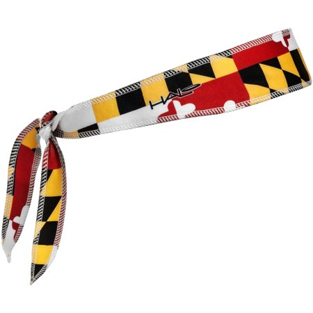 Halo Headband Tie Version I Sweatband - Maryland Flag