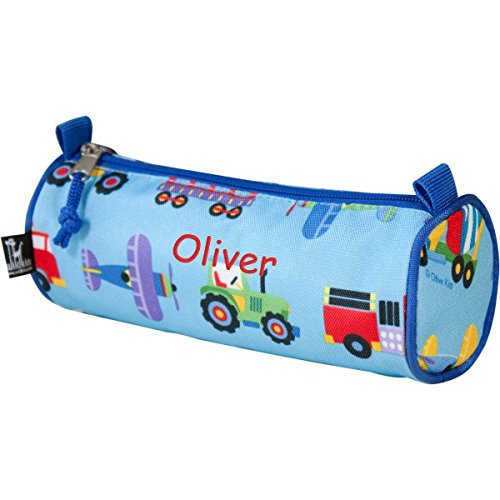 Personalized Pencil Case (Trains, Planes and Trucks)