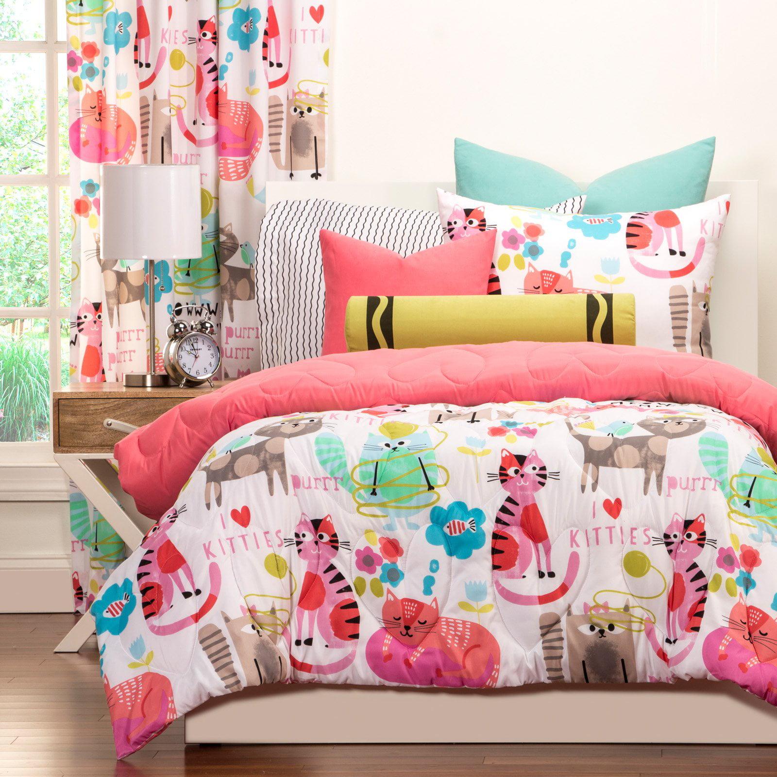 Crayola Purrty CatTwin Comforter Set