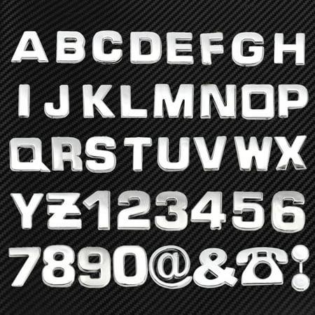 40pcs/Set DIY 3D Chrome Emblem Sticker Alphabet Letter Number Symbol Badge Decal](Police Badge Stickers)