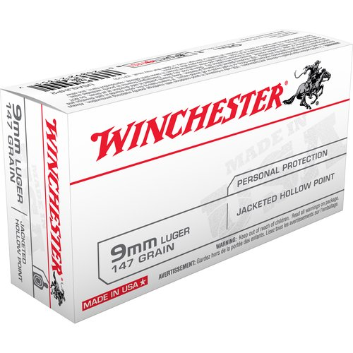 Winchester 9mm Luger Jacketed Hollow Point Bullet
