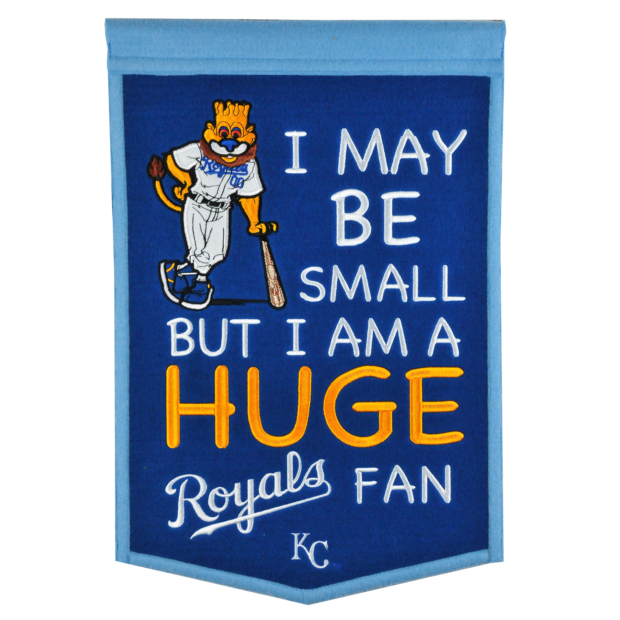 "Kansas City Royals 12"" x 18"" Lil Fan Traditions Banner - No Size"