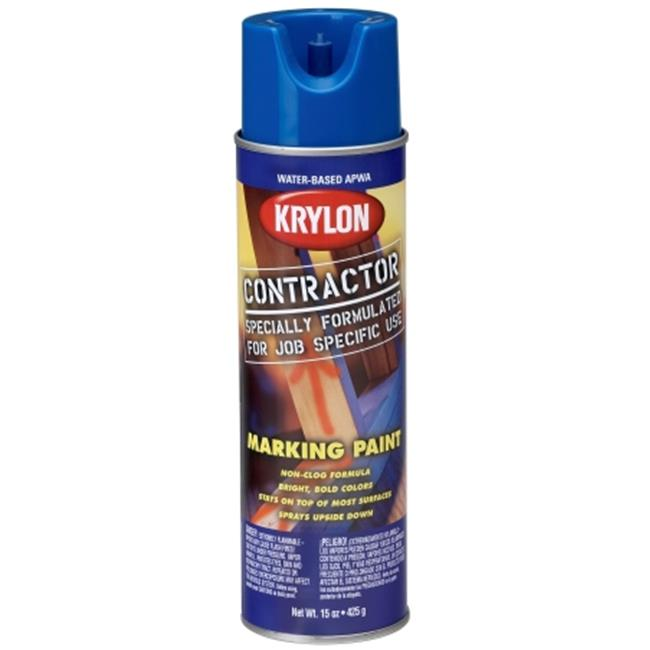 Krylon Division 7315 15 Oz APWA Blue Water Based Contractor Marking Spray Paint - Pack of 6