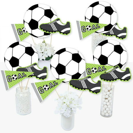 GOAAAL! - Soccer - Baby Shower or Birthday Party Centerpiece Sticks - Table Toppers - Set of 15](Soccer Themed Centerpiece Ideas)