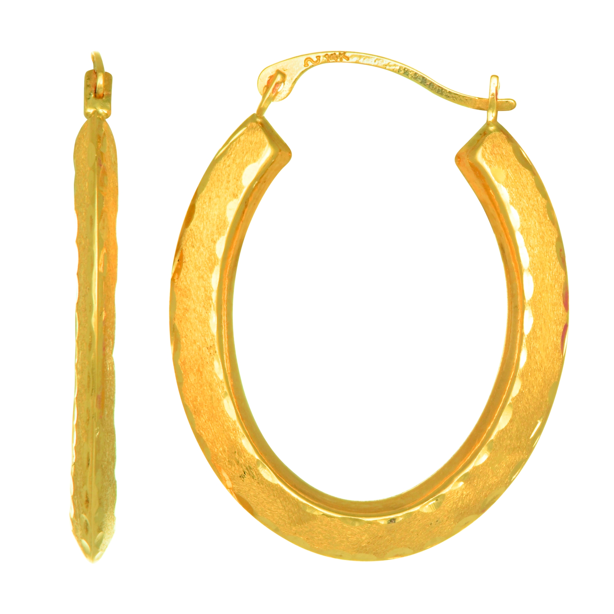 10K Yellow Gold Oval Hoop Baby Earring