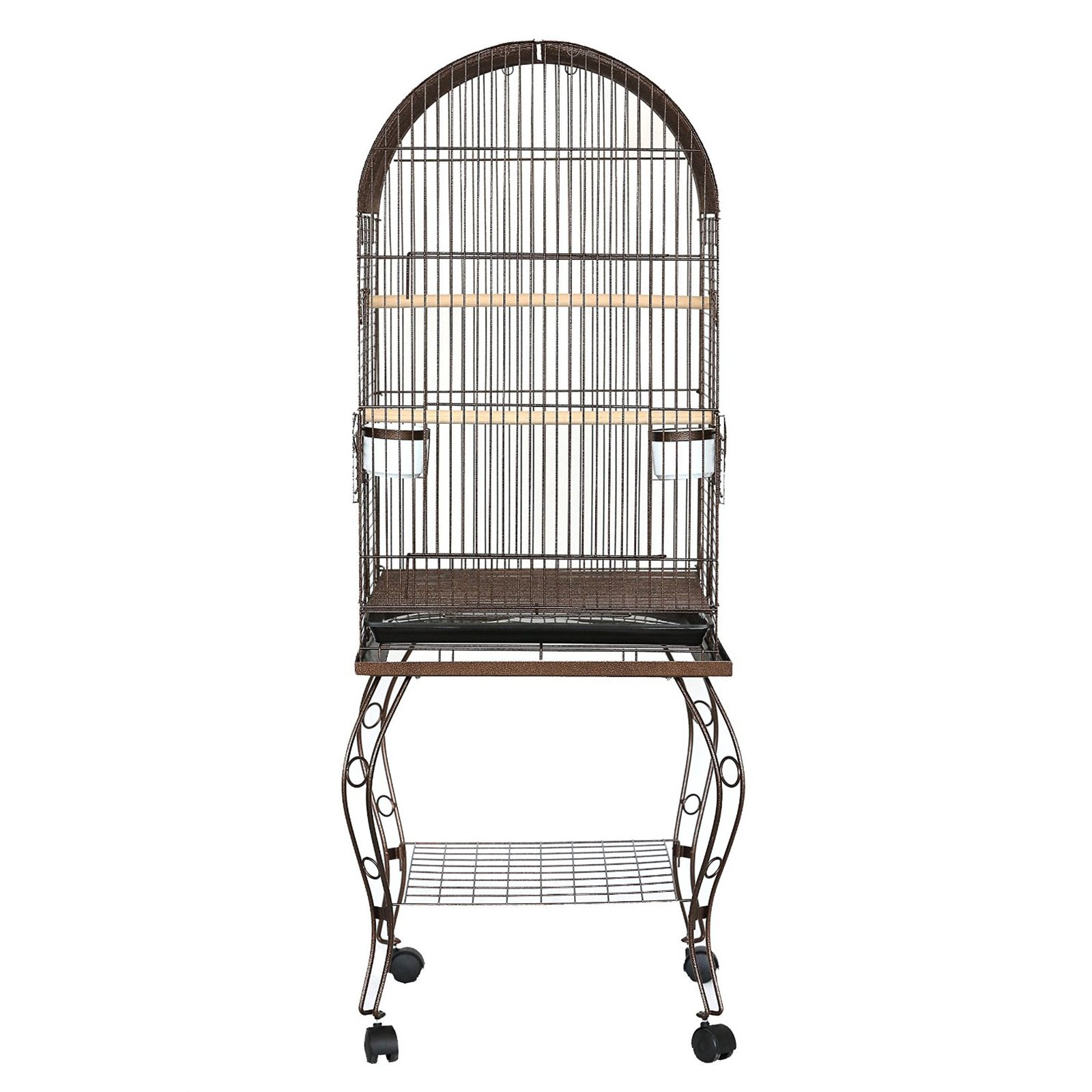 YML 600ACP 20-Inch Dometop Parrot Cage with Stand, Copper