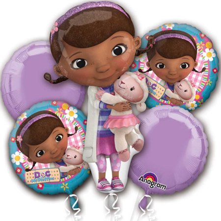 Doc Mcstuffins Character Authentic Licensed Theme Foil Balloon Bouquet - Nautical Themed Balloons