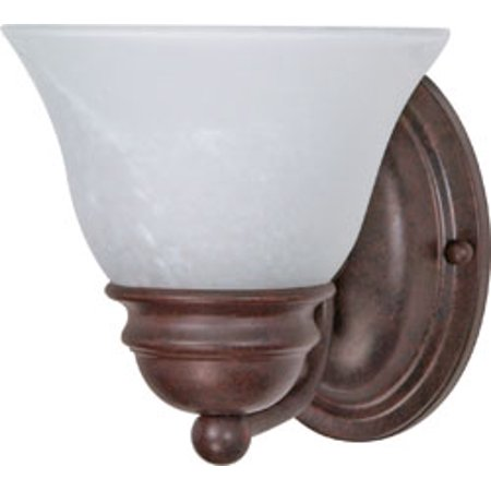 Alabaster Bell (Replacement for 60/344 EMPIRE 1 LIGHT 7 INCH VANITY WITH ALABASTER GLASS BELL SHADES OLD BRONZE TRANSITIONAL )