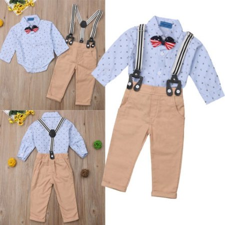 d373fe343f0 Emmababy - Toddler Baby Boys Formal Outfits Gentleman Suit
