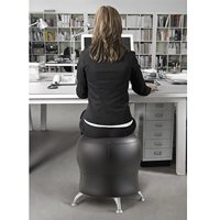 Safco Products 4751BV Zenergy Ball Chair Black Vinyl