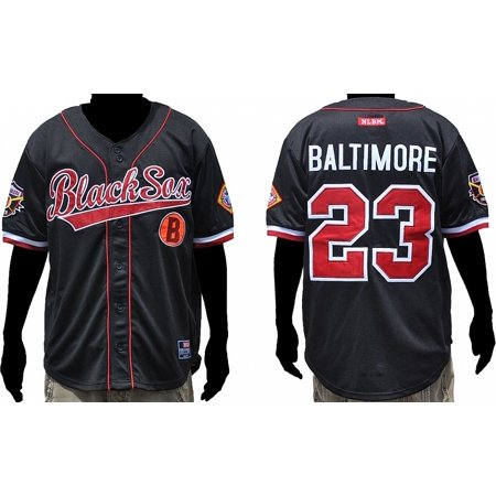 Big Boy Baltimore Black Sox Legacy S3 Mens Baseball Jersey [Black - 2XL] Big Tall Baseball Jerseys
