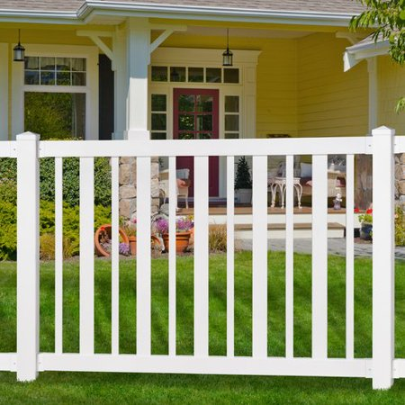 Wam Bam No-Dig Fence 4 ft. H x 4 ft. W Sturbridge Vinyl Yard and Pool Gate with Hardware