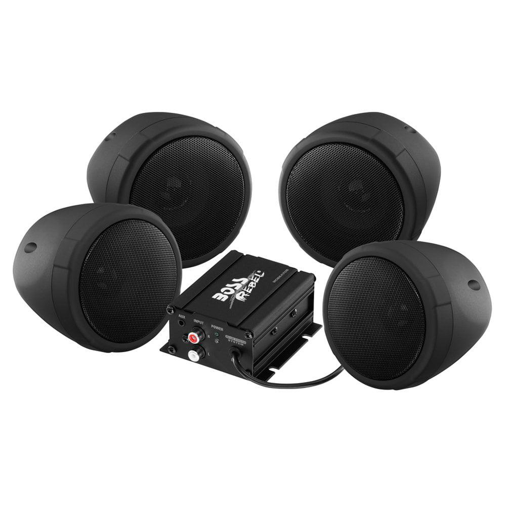 Boss Audio MCBK470B Black 1000W Motorcycle/ATV Sound System with Bluetooth Audio Streaming