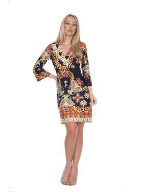 e039f0a3d7 Product Image Women s Venetian Printed 3 4 Sleeve Dress