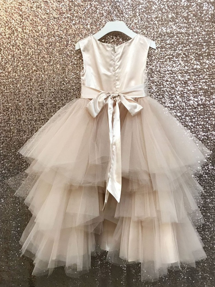 b74b08ab7 Little Girls Rose Gold 3D Applique Lavish Flower Girl Dress - Walmart.com