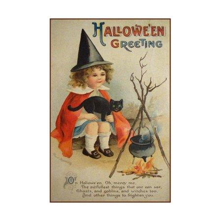 Vintage Halloween Collector (Halloween Cauldron Print Wall Art By Vintage Apple)