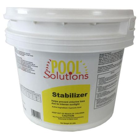 Pool Solutions Swimming Pool 25lb Chlorine Stabilizer Cyanuric Acid P17025de